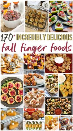 170 Incredibly Delicious Fall Finger Foods Thanksgiving is next week and I have got the ultimate fall finger foods roundup to share with you! Every appetizer you could ever want is on this list of over 170 recipes! Finger Food Appetizers, Appetizer Recipes, Mini Appetizers, Thanksgiving Recipes, Fall Recipes, Xmas Recipes, Thanksgiving Appetizers, Fall Finger Foods, Sweet Potato Nachos