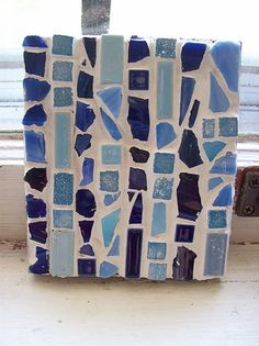 mosaic tiles from glass bottles