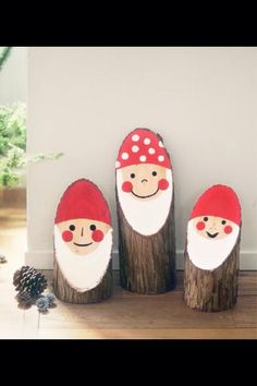 TONTTU Christmas Wood Crafts, Christmas Projects, Holiday Crafts, Christmas Crafts, Christmas Decorations, Xmas, Diy And Crafts, Arts And Crafts, Harvest Decorations