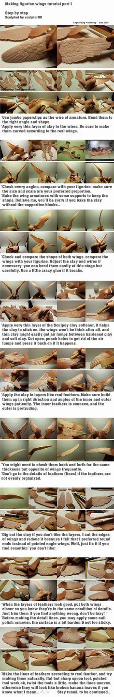 Figurine WIP/ tutorial part 3 wings by sculptor101 on deviantART