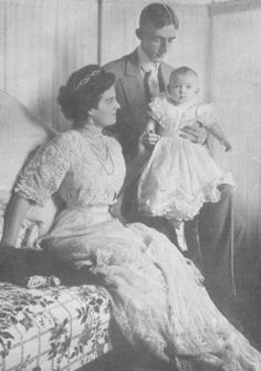 Grand Duchess Maria Pavlovna of Russia, husband Prince Wilhelm, Duke of Södermanland and son Count Lennart Bernadotte of Wisborg
