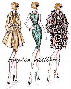 Hayden Williams Fashion Illustrations: Fashion Elite Collection: Anna Wintour by Hayden Williams