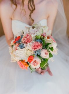 Succulents add a southwestern feel to this bouquet: http://www.stylemepretty.com/2014/08/30/a-sunny-celebration-at-the-santa-barbara-historical-museum/ | Photography: Michael & Anna - http://www.michaelandannacosta.com/