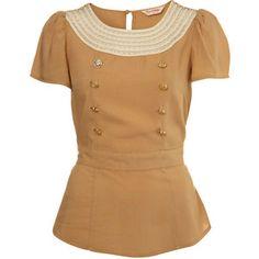 Peter Pan Crochet Top - Miss Selfridge - Polyvore
