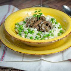 Zöldborsós, csirkemájas rizottó recept | Ízzel-Lélekkel.hu Ethnic Recipes, Food, Essen, Meals, Yemek, Eten