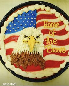 Cookie Cake Designs, Cookie Ideas, Cake Cookies, Cupcake Cakes, Cupcakes, Creative Food Art, 4th Of July Cake, Eagle Design, Cookie Decorating