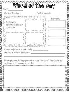 WEEKEND NEWS, STAR OF THE WEEK, WORD OF THE DAY, AND WORD WALL WORDS - TeachersPayTeachers.com