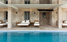 Notre Spa  #maranathahotels #relaischateaux Spa, Restaurant, Hotels, Outdoors, Outdoor Decor, Home Decor, Courtyards, Grasses, White People
