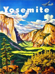Yosemite Half Dome California Vintage U.S. Travel Advertisement Art Poster in Posters | eBay