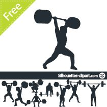 Sports Clipart Image of A Bodybuilder Lifting Free Weights ...