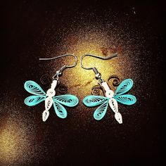 Dragonfly Quilling Earrings by PaperHouseUSA on Etsy