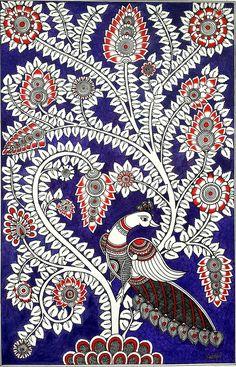 Ideas For Bird Print Fabric Flower Peacock Painting, Mural Painting, Fabric Painting, Acrylic Paintings, Kalamkari Painting, Madhubani Painting, Kalamkari Fabric, Indian Traditional Paintings, Indian Art Paintings