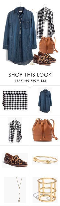 """""""denim & leopard"""" by villasba ❤ liked on Polyvore featuring Madewell and J.Crew"""