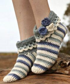 Pantuflas crochet