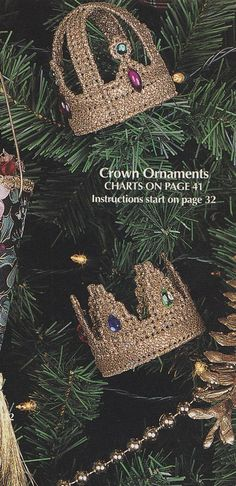 Crown Christmas Tree Ornaments Plastic Canvas Patterns