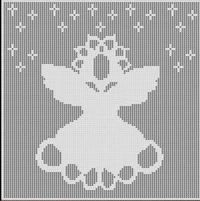 Filet Crochet Patterns - Holiday/Seasonal - ANGEL Christmas FILET CROCHET PATTERN Afghan Picture~$6.00