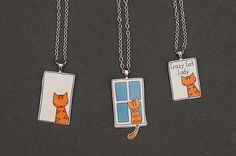 Cat necklaces by starpixie, via Flickr Shrinky dink time!