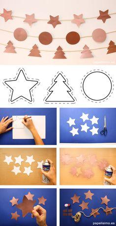 Christmas Room, Christmas Crafts, Merry Christmas, Xmas, Christmas Ideas, Fun Crafts, Diy And Crafts, Paper Dolls, Garland