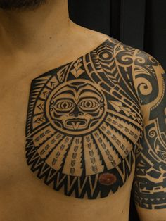 東京・渋谷のタトゥースタジオ TIFANA TATTOO,TOKYO ポリネシアンスタイルのトライバルタトゥーをデザインした作品画像 Polynesian Tahiti Tribal tattoo by mica,TIFANA TATTOO