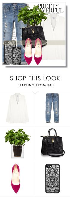 """""""Casetify!"""" by dianagrigoryan ❤ liked on Polyvore featuring Vince, Hollister Co., Boskke, Cerasella Milano, Balmain and Casetify"""
