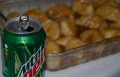 Southern Apple Dumplings made with Mountain Dew