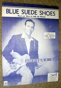 1956 sheet music of Blue Suede Shoes.mine since 1956 Vintage Sheet Music, Piano Sheet Music, Carl Lee, 100 Chart, Calming Colors, Blue Suede Shoes, Billboard Hot 100, Photos Tumblr, Music Covers