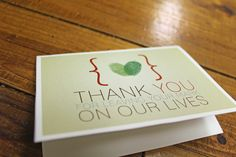 Fingerprint Thank You Cards Reserved for Meenal via Etsy Fingerprint Wedding, Tree Wedding, Happily Ever After, Thank You Cards, Holiday Gifts, Stationery, Thankful, Place Card Holders, Unique Jewelry
