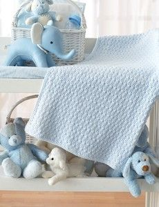 Bundle in Blue Crochet Baby Blanket Pattern