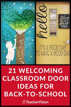 Classroom door ideas for back to school can welcome and inspire your students as they enter your classroom! Find inspiration for your classroom door decorations here. #classroomdoor #classroomdecor #classroom