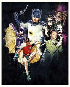 Batman TV Series Art by Paul Shipper