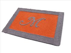 blue gray orange quilt | Please make note...All rugs are custom