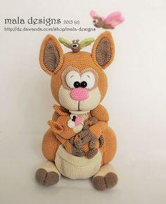 Häkelanleitung für Kängurus / diy knitting instruction for cute kangaroo by mala…