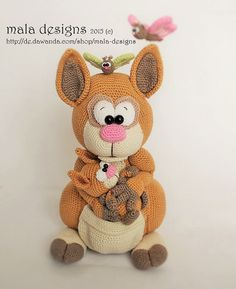 Häkelanleitung für Kängurus / diy knitting instruction for cute kangaroo by mala designs via DaWanda.com