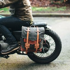 After riding with backpacks on our moto-camping road trips last year, we decided this needed to happen. This is the first prototype- and many things may change, but I'm proud of it in spite of my own critique. Planning to revise, test, and then make these available to all the people sometime later this year.