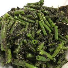 Japanese Green Beans with Black Sesame Sauce