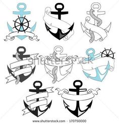 4e474d6b6402c Vector anchor silhouette free vector download (5