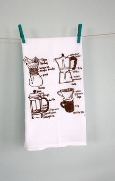 {coffee lover tea towel}