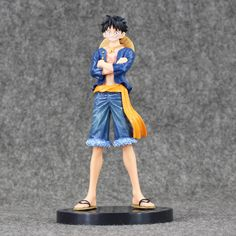Toys & Hobbies Lovely One Piece Luffy Monkey D Luffy Pvc Action Figure Model Chirstmas Gift 18cm Ture 100% Guarantee