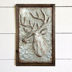 Millwood Pines Wood and Embossed Metal Deer Wall Décor Farmhouse Wall Decor, Rustic Decor, Traditional Wall Decor, Tin Can Art, Creative Co Op, Antique Farmhouse, New Wall, Cool Walls, Wall Art
