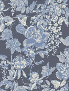 Tivoli Blue wallpaper by Cole & Son