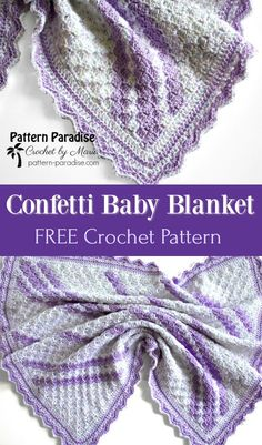 Free crochet pattern for C2C corner to corner baby blanket by Pattern- Paradise.com 39da113939ab