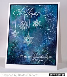 Featuring Penny Black's newest Christmas collection, Season's Greetings