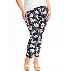Old Navy Womens Plus The Pixie Ankle Pants ($22) ❤ liked on Polyvore