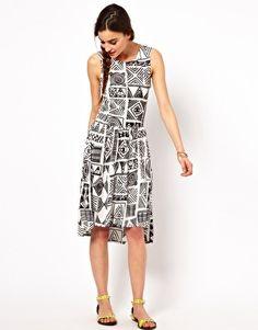 Ruby Rocks Printed Smock Dress