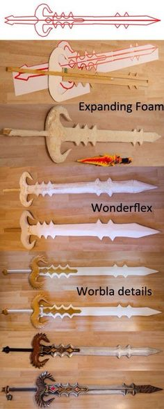 Sword with expanding foam