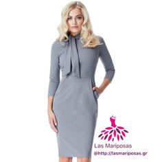 Nelly γκρι midi φόρεμα με τσέπες Business Wear, Dresses For Work, How To Wear, Fashion, Moda, La Mode, Fasion, Business Outfits, Office Wear