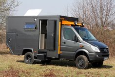 Bocklet Dakar 650, based on 4x4 Mercedes Sprinter 519 CDI. The camper is GRP sandwich construction with 50mm thick walls and roof, 60mm floor. Base price? A cool 205,000 euros.