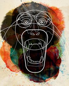 Water Color Monkey
