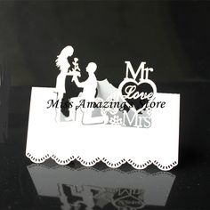 50pcs  9x9cm MR&MRS Love Wedding Bridal Shower  Party Decorations Bride Groom Name Number Card Table Place Cards  Favors