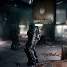 At Med Tek Research looking for brotherhood scouts. #fallout #fallout4 #gaming #powerarmor #wheresthatdamnpassword